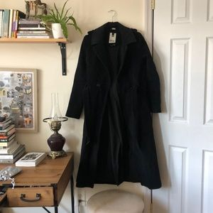 Soia & duo black trench coat
